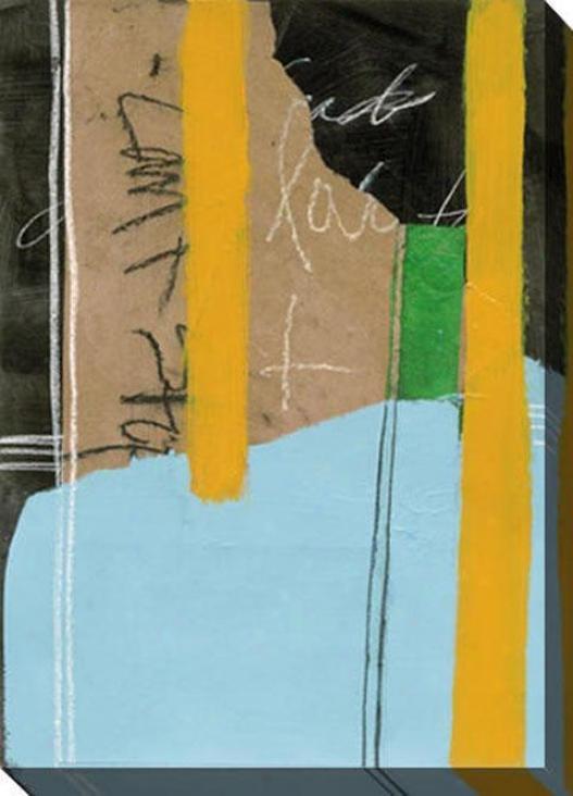 Planar Composite Ii Canvas Wall Art - Ii, Brown