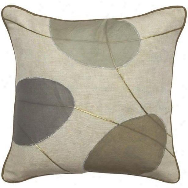 """plaza Pillows - Set Of 2 - 18""""x18"""", Sage/green"""