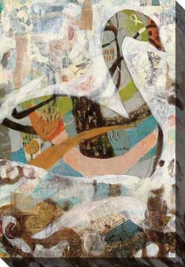 Pond I Canvas Wall Art - I, White