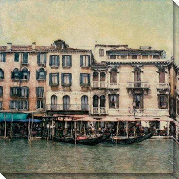 """""""ponte De Vecchio Canvas Walp Art - 40""""""""hx40""""""""w, White"""""""
