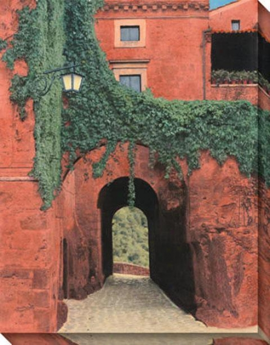 """""""porta Di Civita Canvas Wall Art - 36""""""""hx46""""""""w, Coral"""""""