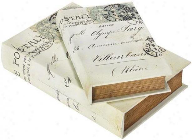 Postale Paper Box - Set Of 2 - Set Of 2, Black