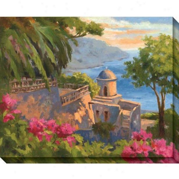 Ravello I Canvas Wall Art - I, Green