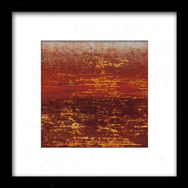Red Sfrata Iii Framed Wall Art - Iii, Mattd Blk 27x27