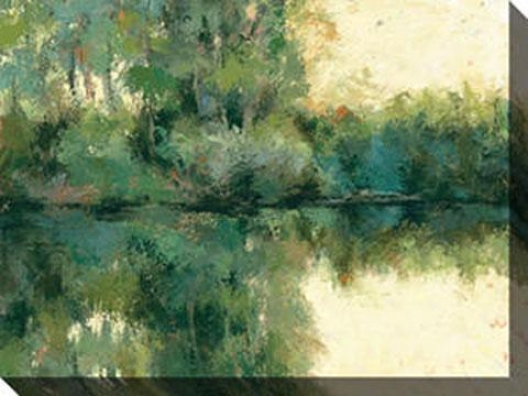"""reflections Canvas Wall Art - 48""""hx36""""w, Green"""