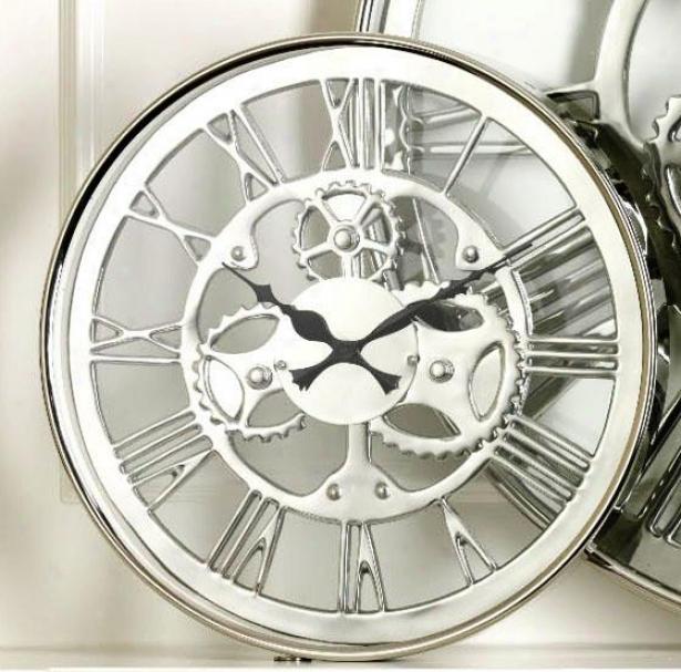 """reggatta Wall Clock - 14h X 2""""w, Silver"""