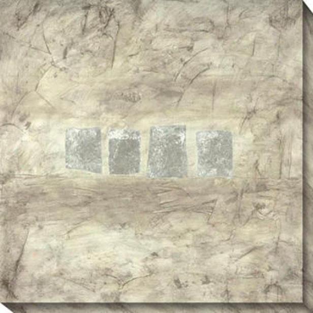 Relatively Silver Ii Canvas Wall Art - Ii, Gray