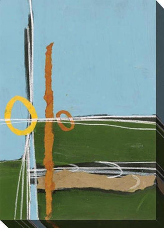 Resembling A Geometry I Canvas Wall Art - I Blue