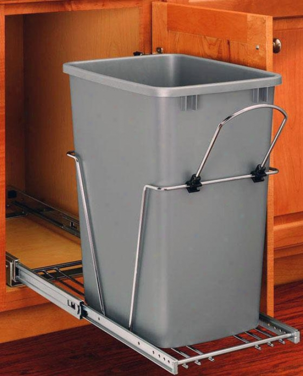 Rev-a-shelf 35-quart Pull-out Waste Container - 19.25h X 11wx22, Silver