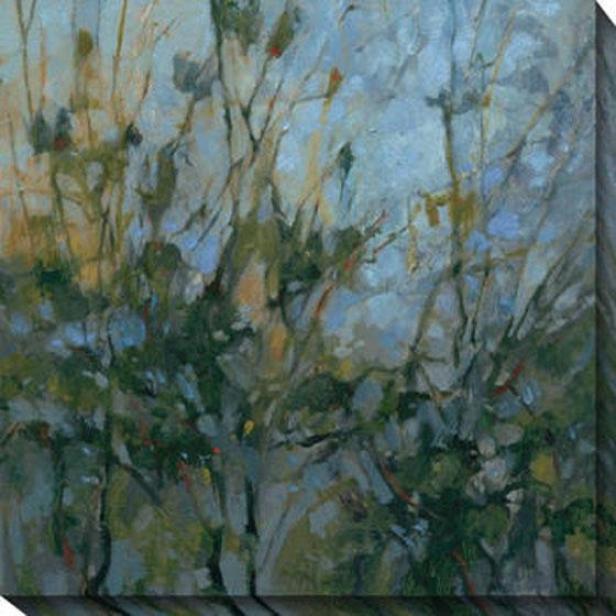 Rhapsody Iii Canvas Wall Art - Iii, Blue