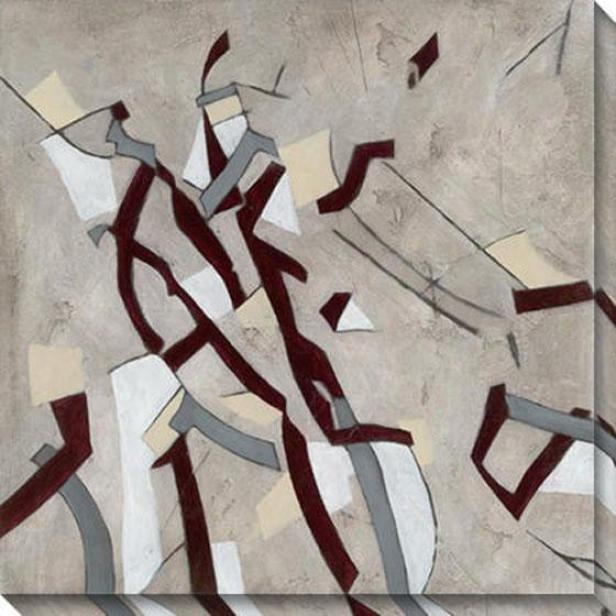 Ribbon Ii Canvas Wall Art - Ii, Black