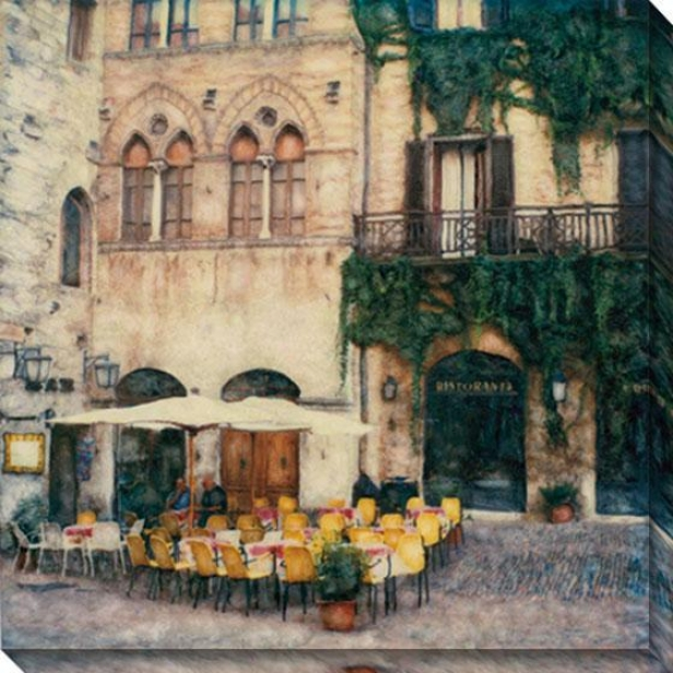 """ristorante Canvas Wall Art - 40""""hx40""""w, Multi"""