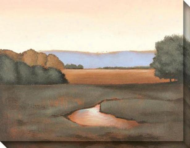 """river's End CanvasW all Art - 46""""hx36""""w, Earthtones"""