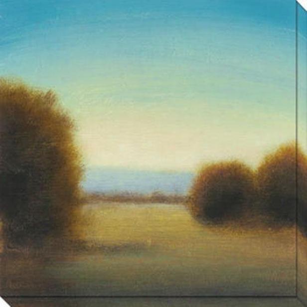 River's Journey I Canvas Wall Art - I, Blue