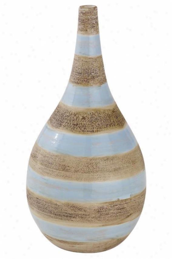 """riviera Porcelain Vase - 14"""", Blue"""