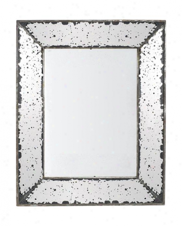 """roberto Mirror - Small 9.5""""x12"""", Antiqued Mirror"""