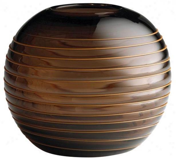 """""""round Vesper Vase - Medium 6hs7""""""""rd, Brown"""""""