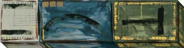 """""""roundabout Canvas Wall Art - 45""""""""hx12""""""""w, Blue"""""""