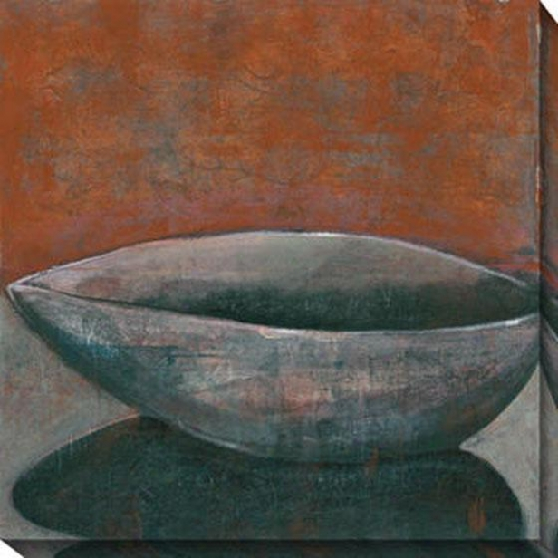 """rust Bowl Canvas Wall Art - 40""""hx40""""w, Rust/gray"""