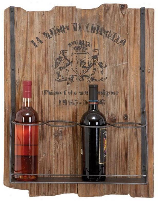 """rustic Wood Wine Rack - 24""""hx19""""wx5""""d, Natuarl Forest"""