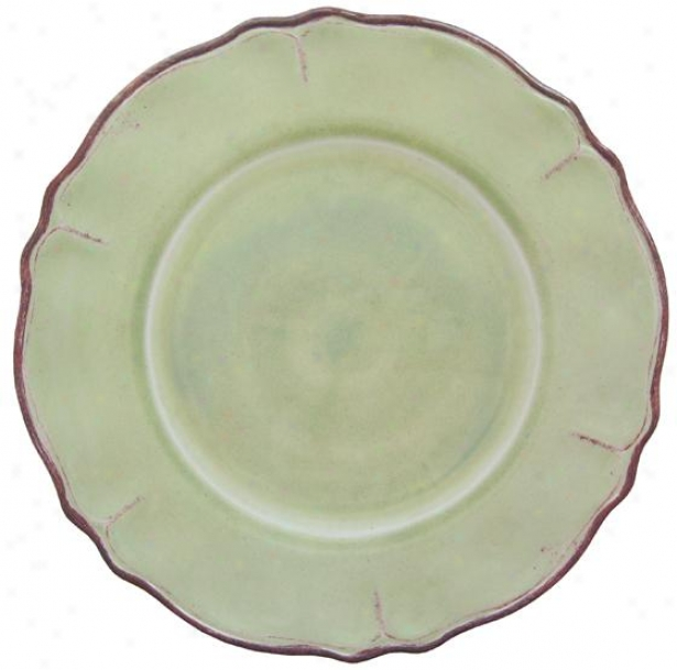 Rustica Salad Plates - Set Of 4 - Set Of Four, Sage