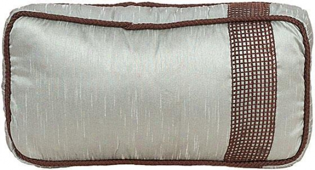 """samantha Pillow - 7""""hx15""""w, Chocolate Brown"""