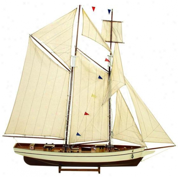 """scooner Ship - 47""""hx46""""w, Grey Stone"""