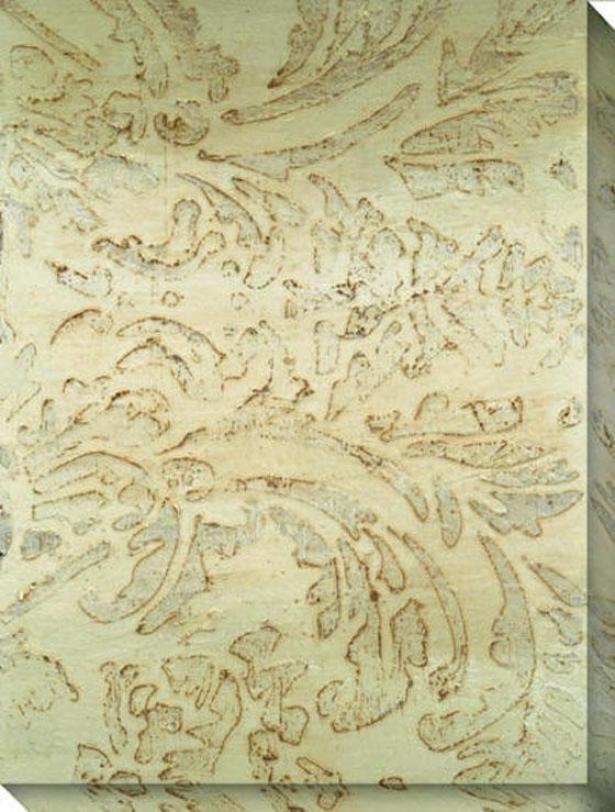 Seafoam Design V Canvas Wall Art - V, Beige