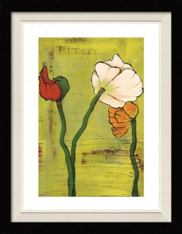 Season's Frenzy Ii Framed Wall Art - Ii, Floated Black