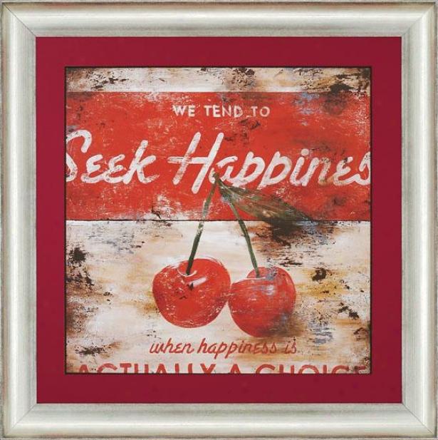 """""""seek Happiness Wall Art - 34""""""""squarex2""""""""d, Red"""""""