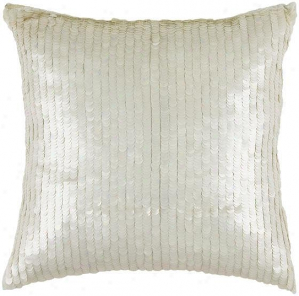 """swquin Pillow - 18"""" Adjusted, White"""