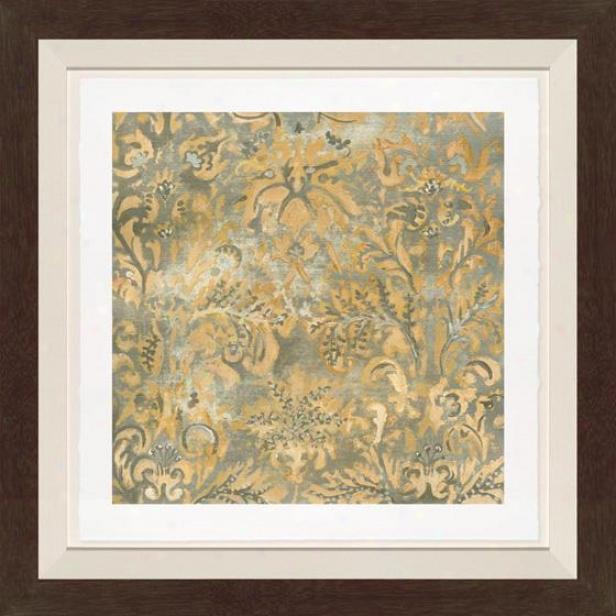 Serene Sensibility I Wall Wart - Black Frame, Multi
