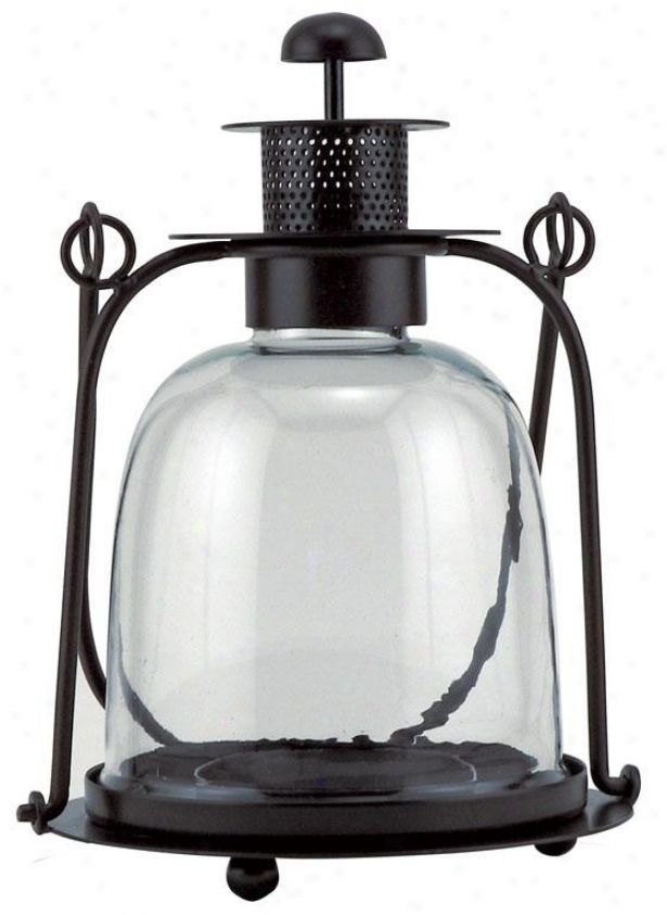 """sheffield Smooth Lantern - 10.5""""hx7.5""""rnd, Bronze"""
