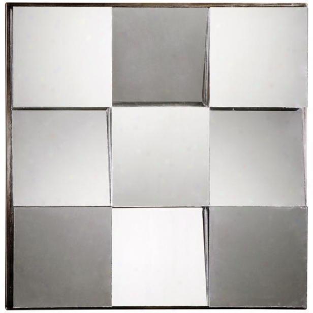 """sherene Mirror - 30""""hx30""""w, Silver"""