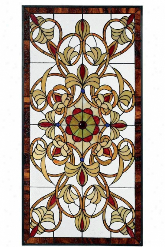 Signet Comprehensive Rectangular Tiffany-style Stained Art Glass Window Panel - Large Rectangul, Multi