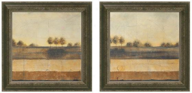 Silent Joourney Framed Wall Cunning - Set Of 2 - Set Of Two, Beige