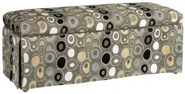 Skirted Bench With Nailhead Trim - Skirted, Fiji Granite