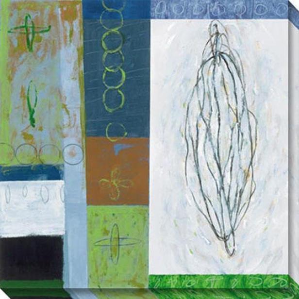 Solstice Ii Canvas Wall Art - Ii, Blue