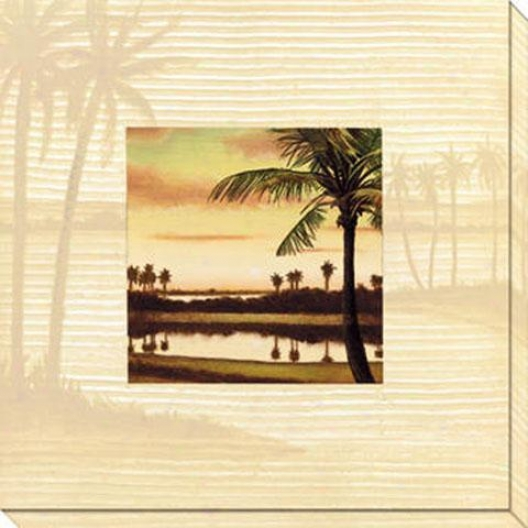 Southern Shores I Canvas Wall Art - I, White