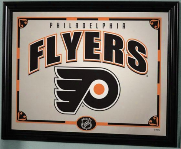 Sports Team Nhl Framed Mirror - Nhl Teams, Flyers