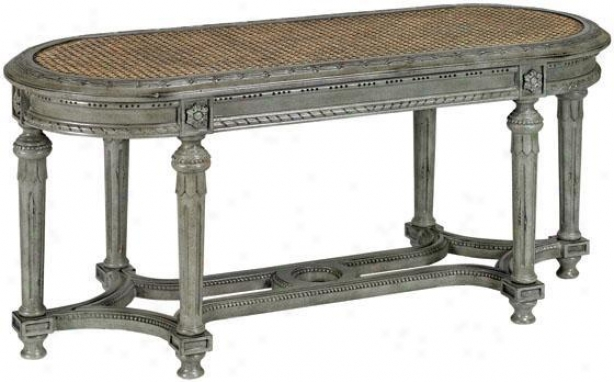 """stacey Bench - 18.25""""hx40""""w, Antique Gray"""