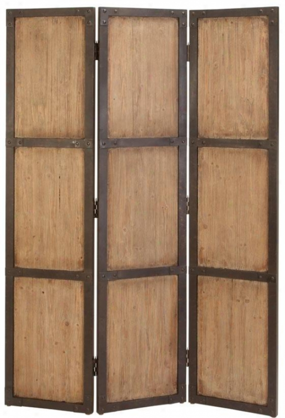 """stanley Screen - 71""""hx48""""wx1""""d, Natural Wood"""