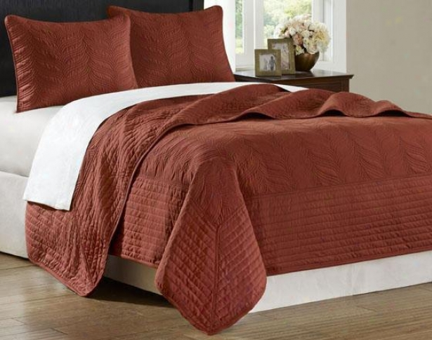 Stonebridge Ii Coverlet Flow - King 3pc Set, Brick Red