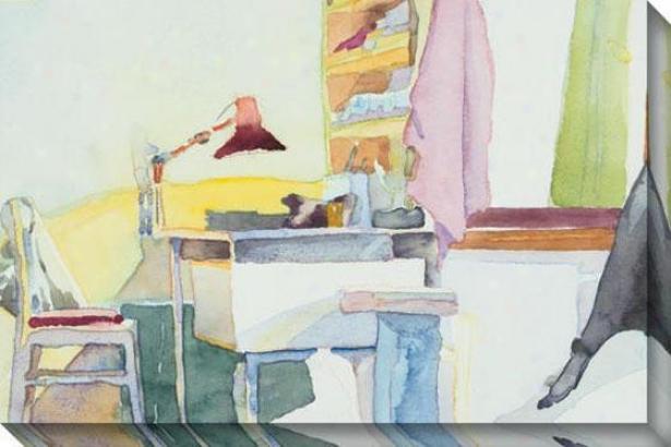 """study Room Canvas Wall Art - 48""""hx32""""w, Multi"""