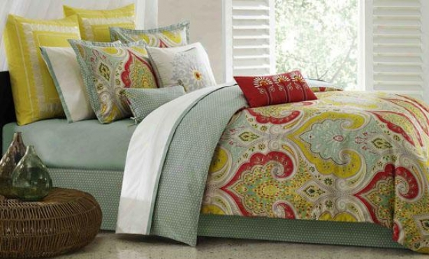 Sula Ii Comforter Set - Queen 9pc Set, Green