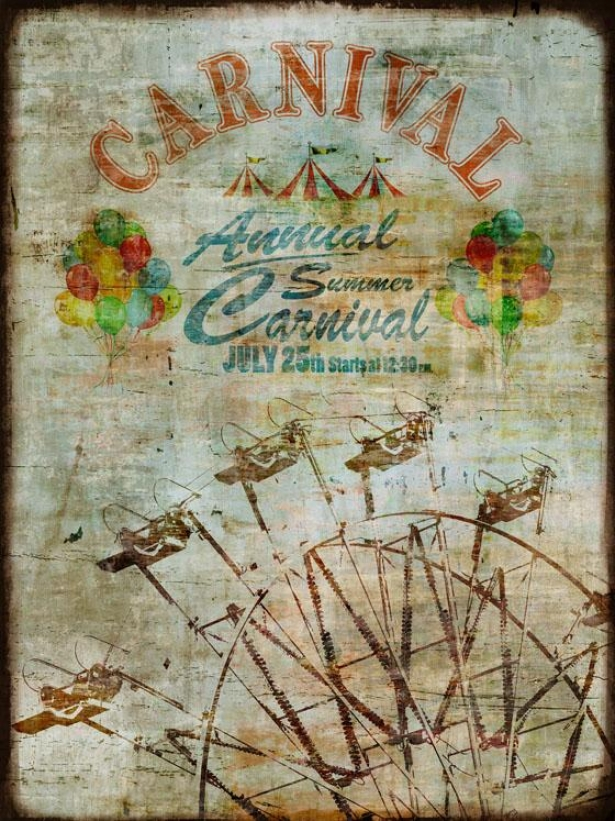 """summer Carnival Wall Art - 30""""wx40""""hx2""""d, Blue"""