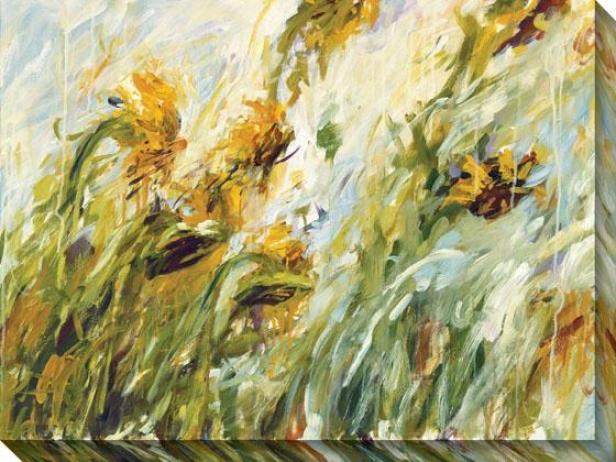 Sunflower Stare Ii Canvas Walll Art - Ii, Yellow
