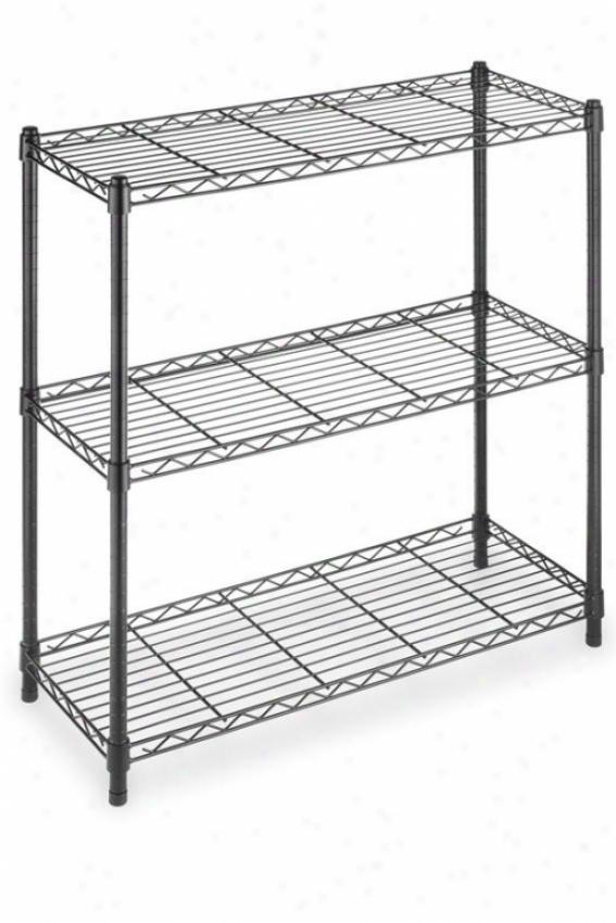 Supreme 3-tier Shelving - Regular, Black