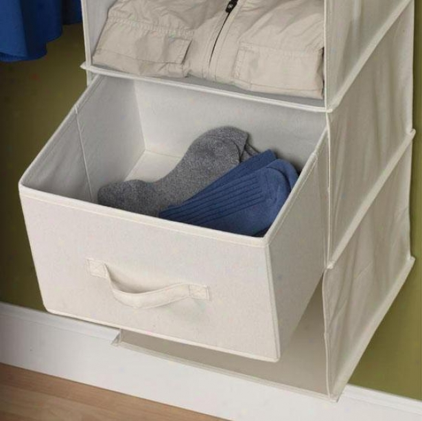 """""""sweater Organizer Drawers - Place Of 2 - 7.75""""""""hd11.75""""""""w, Ivory"""""""