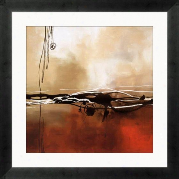Consonance In Red And Khaki I Framed Wall Art - I, Mtte Bk Cube Fm